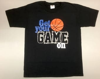 GET YOUR GAME On, boys basketball shirt, basketball lovers shirt, baseball shirt, sports lover gift, basketball is life, any sport shirt
