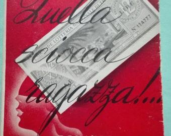 vintage romance novel that SILLY GIRL of Nerina Majorino Jori 1945