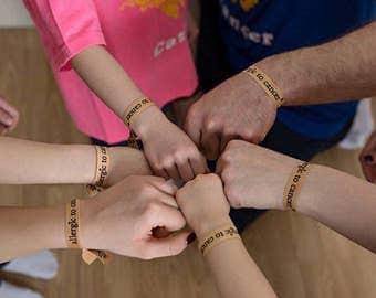 Allergic to Cancer Bracelets, Cancer Fundraising Bracelet, Survivor Gifts, Cancer Awarness Bracelet, Cancer Bracelet