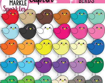 Rainbow Clipart, Spring Clipart, Bird Clipart, Animal Clipart, Color Clipart, Spring Bird Clipart, Cute Bird Clipart, Chick Clipart