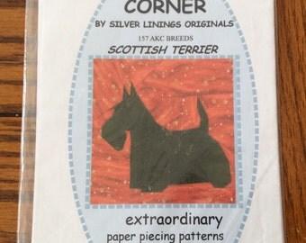 Scottie dog paper piecing pattern