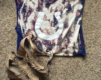 Colts Acid Wash Tie Tank Top