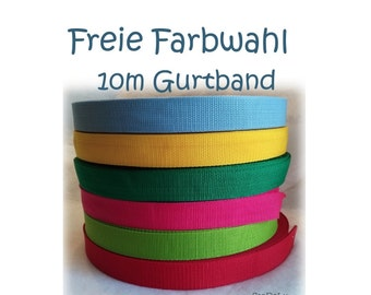 Webbing 30 mm, 10 m free choice of color