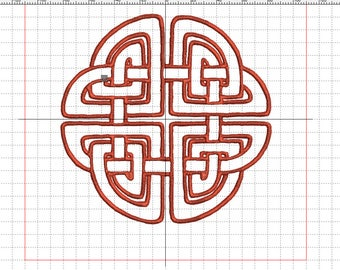 "Embroidery ""Celtic knot square"""