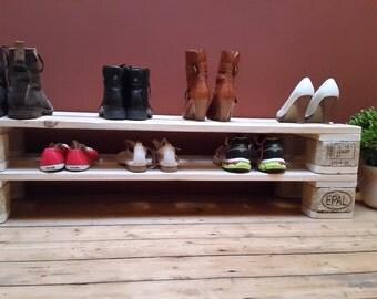 Shoe shelf made of two floors
