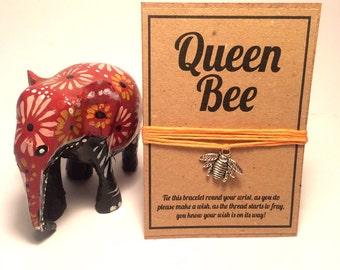 Queen bee wish charm bracelet