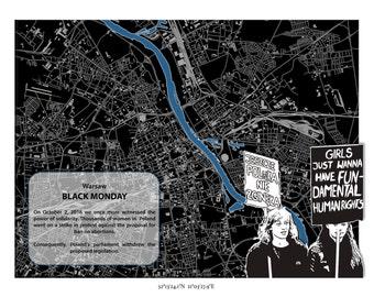 Atlas of Inspiring Protests; BLACK MONDAY - Warsaw