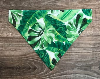 Green Leaf Dog Bandana