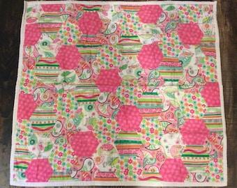 Soft Flannel Hexigon Baby Quilt