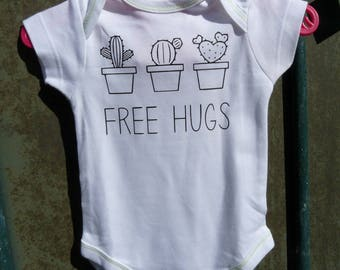 """Free hugs"" onesie & cactus - customizable."
