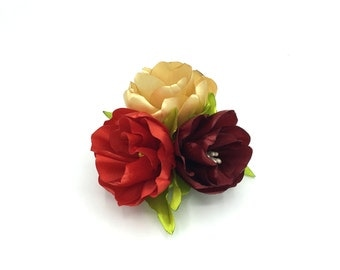 Pinch Triple flower satin