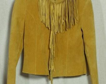 Vintage 90's Style Suede Fringe Mixit Jacket