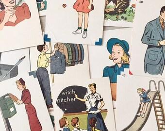Vintage Flash Cards- 1960's - Crafts