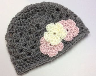 Crocheted Newborn Baby Hat