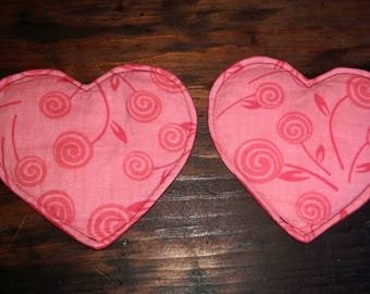Roses heart breast pads