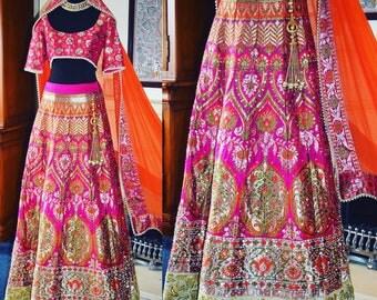 Bridal Lehenga, Bridal dress, Bridesmaid Dress, Asian Bridal Lehenga,  Asian Lehenga , Banarsi Silk Lehenga