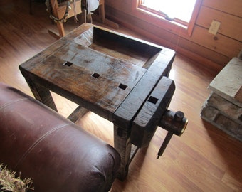 CARPENTER/PATTERNMAKER'S Work Bench End Table or Nightstand