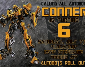 Robot Kids Birthday Invitation