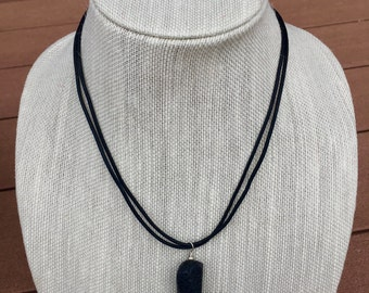Essential Oil Jewelry, Aromatherapy Necklace, Lava Stone Diffuser Necklace, Leather, Handcrafted