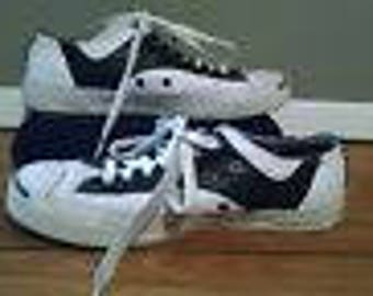 retro Jack purcell converse womens 9.5 Rock a billy saddle shoes greaser look
