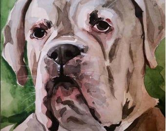 Custom 12x16 Watercolor Pet Portrait