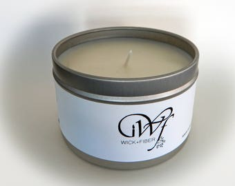 8 oz tin can Black Sea soy candle