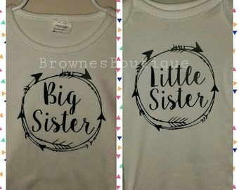 """Customizable """"Big Sister, Little Sister""""/""""Big Brother, Little Brother"""" shirts"""