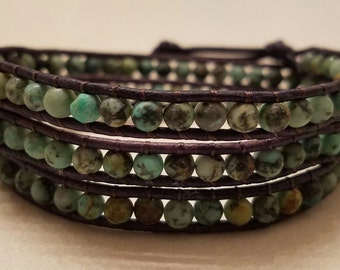 African Turquoise Triple Wrap