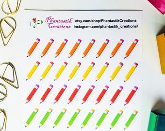 Pencil School/Functional/Reminder Planner Stickers