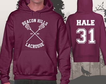 Teen Wolf Hoodie Beacon Hills Lacrosse Hoodies Hale 31 Unisex and Mens