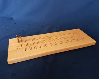 Cribbage Board, handmade, hard maple