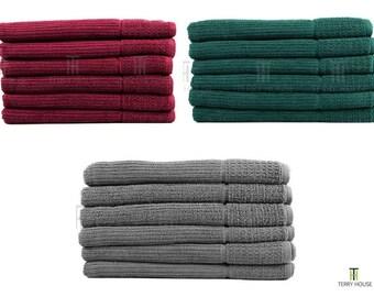 6 Pieces Bath Towel Set 100% Pure Egyptian Cotton 600GSM Commercial Quality