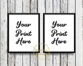 set of two 8x10 digital etsy listing mockup white wood mockup double 8x10 frame black frame mockup 8x10 frame mockup instant download