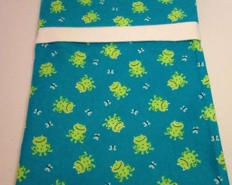 SET OF TWO Frog Pillowcases