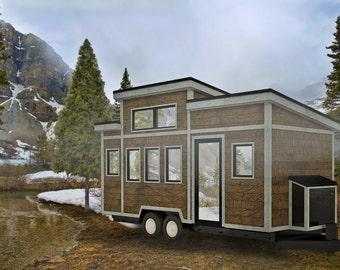 tiny house building plan thow model three