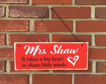 Custom teacher appreciation pallet board painted sign