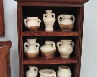New 1:12 scale dolls house miniature shelf vase unit