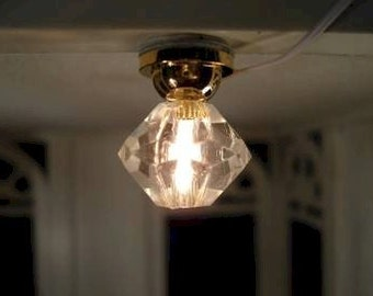 Dolls House Miniature Ceiling Light