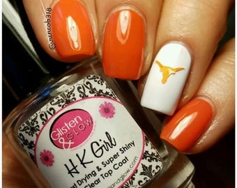 Longhorn Nail Decal