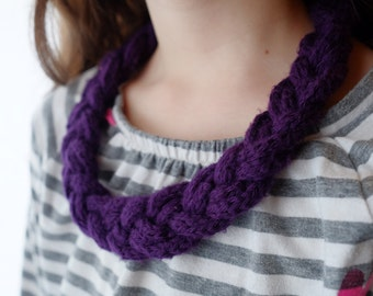Braided Knit Necklace - Made to order // for her // gift // customized