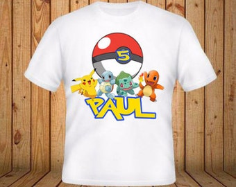 Pokemon Birthday Shirt