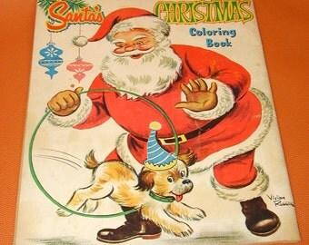 vintage Santa Claus coloring book