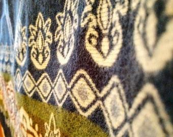 Alpaca wool blanket - double sided