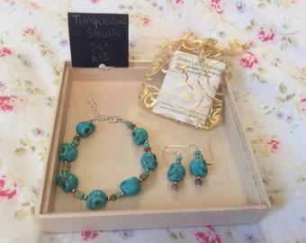 Turquoise Skulls Set