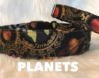 Planets: dog collar, girl collar, boy collar