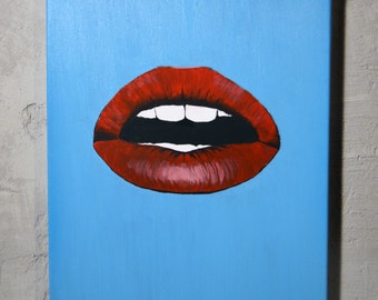 Lips Canvas Art, Wall Art