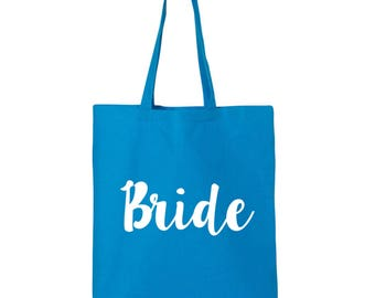 Bride Cotton Canvas Tote Bag in 11 Colors