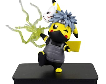 Kakashi Pikachu Figurine, Pokemon Naruto Collectible Model Toy
