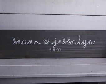 Personalized Name Sign/Wedding Gift