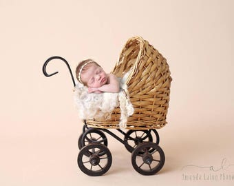Carriage Newborn Digital Backdrop, Newborn Digital Backdrop, Newborn Digital Background